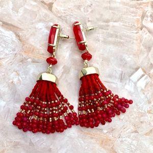 🔥❗️SALE❗️KENDRA SCOTT RED & GOLD DOVE EARRINGS